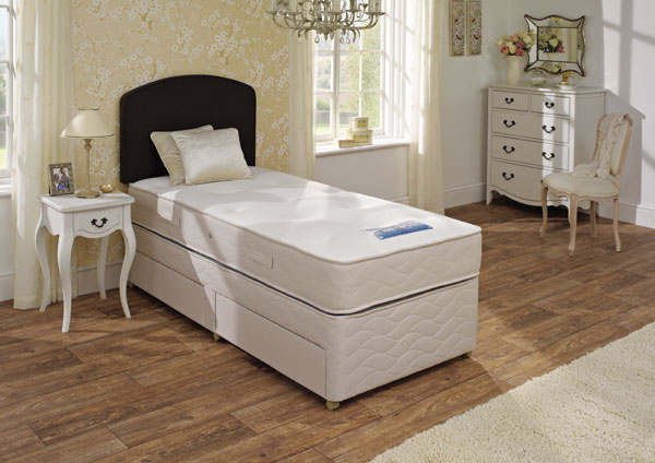 Sealy single beds 3ft for Single divan beds with mattress and headboard