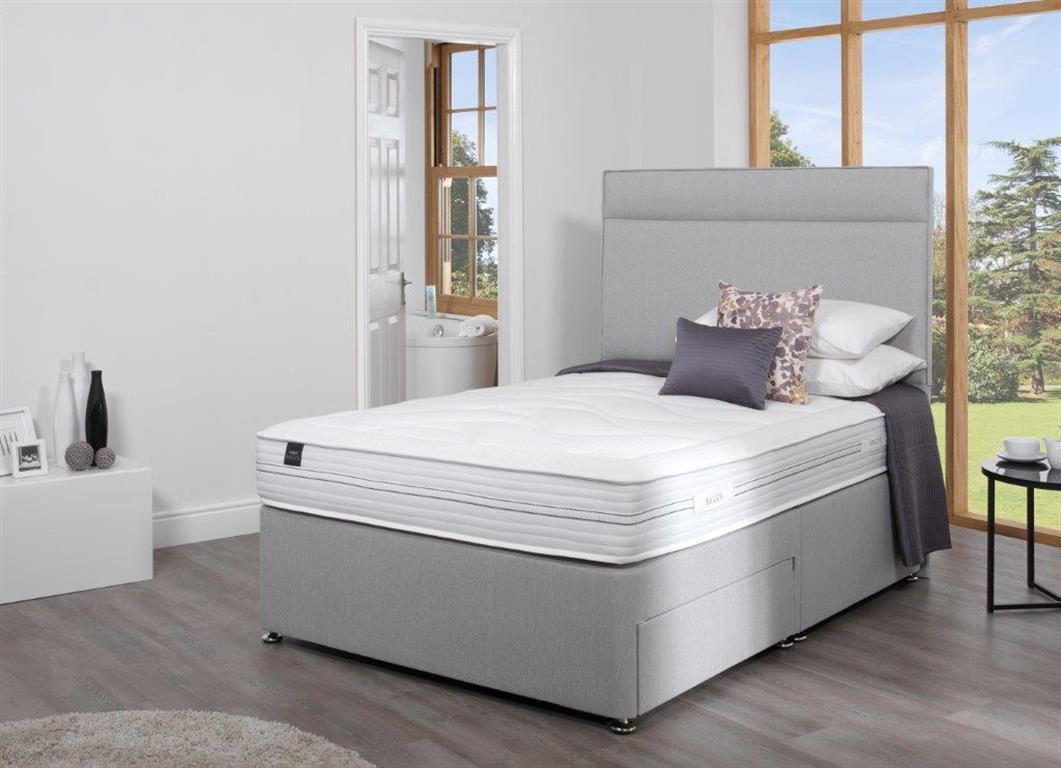 Salus single divan beds 3ft for Low single divan bed