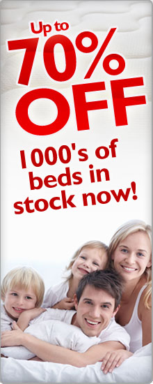 Up to 70% off - 1000s of beds in stock now