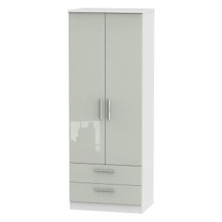 Welcome Furniture Knightsbridge Tall 2ft6in 2 Drawer Robe